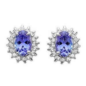 Jewelry - Ladies Studs Earrings 4.80 Ct. Tanzanite  Diamond